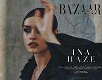 In A Haze for Harper's Bazaar Arabia