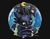 Toothless | Watercolor
