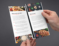 Brochure – Restaurant and Fast Food Tri-Fold Template
