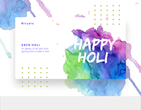 HOLI Design In Modern UI Pattern- Free Template