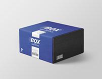 Free Square Mailing Box Mockup