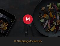 UI/UX Design Startup Find Restaurant Near by
