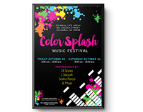 Color Splash Music Festival Promotional Package