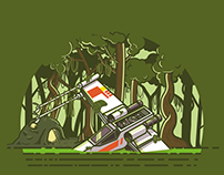 X wing in the swamps