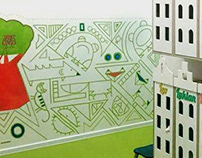 Wall painting Ptit Cref Izmailovo (Moscow)