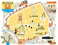 Alcudia Illustrated Map
