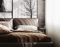 Master Bedroom & Living Room Full CGI Renderings