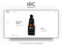 E-commerce website. IRC 24/7 Redesign