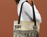 Old nyc tote bag