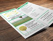 Trifold brochure for Ayala Golf Center