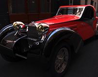 CAD Modeling  Bugatti Type 57C Atalante