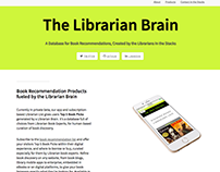 Website for The Librarian Brain database product