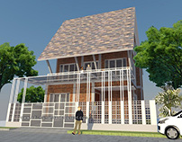 Arsitektur Rumah Unfinised di Bekasi