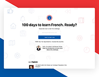 100 days to learn French challenge. Created summer 2017