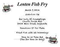 Lenten Fish Fry Flyer 1