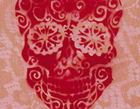 Sugar Skull (Red), 2015