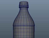 Generic Soda Bottle - Maya 3D