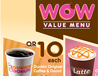 WOW Value Menu | Dunkin' Donuts