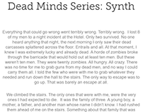 Dead Minds Series: Synth
