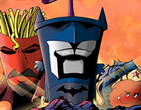 Aqua Teen Hunger Force DC Comics Trinity Parody