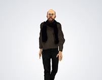 Human 3d Viz   Art Critic   Architect   Rigged