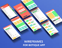 Mobile Wire-frame for boutique app