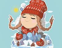 зимние иллюстрации