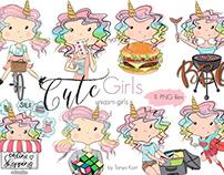 Unicorn Stickers Planner Clipart