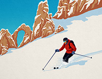 Tignes ski poster