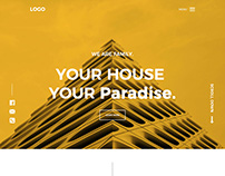 Have a Unique Ui/Ux Property Webiste Design
