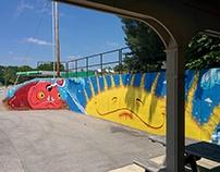 Longboard's Wraps & Bowls Mural #1