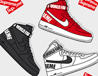 Supreme x Nike Air Force 1