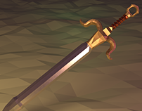 Low Poly Mesh Scene – Capricorn Sword (Animation + Pic)