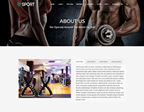 Sport WordPress Theme - About Us Page by Visualmodo