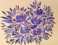 Watercolor patterns and florals