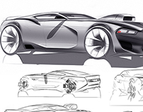 sketches muscle car