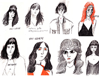 Saint Laurent fashion illustrations