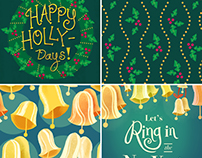Holiday Greeting Cards + Gift Wrap