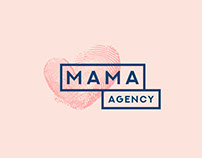 "Logo for event agency ""Mama agency"""