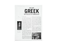 Ancient Greek Mythology & Genealogy