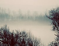 December Fog on the Mississippi- series