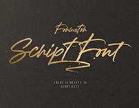 Formetor Script font!