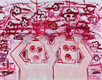 """Obacht, Blumen!"" AoC 140 x 100 cm"