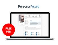 (Freebie) Personal Resume / Vcard & Portfolio Free Psd