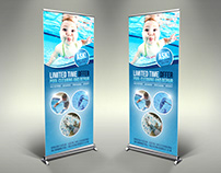 Swimming Pool Cleaning Service Signage Banner Roll Up T