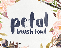 Petal - Handcrafted Brush Font