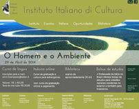 Site fictício do Instituto Italiano di Cultura