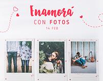 Campaña San Valentín. Social Media. QuieroFotosApp!