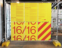 16/16: UTS Festival of Architecture, Event Signage