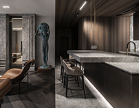 Colossus Apartment in Kyiv by YODEZEEN architects